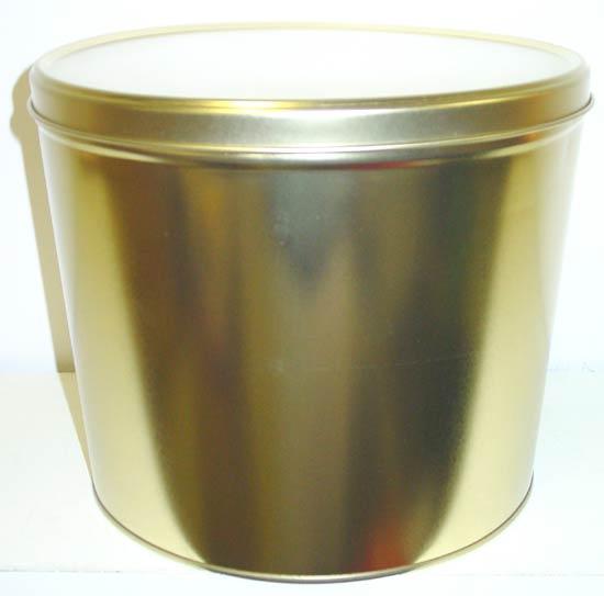 2 Gal Solid Gold Popcorn Tin