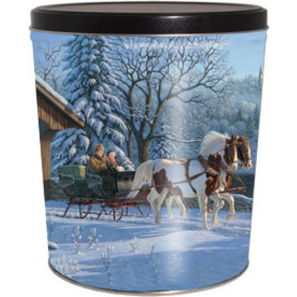 6.5 Gal Horse & Carriage Popcorn Tin