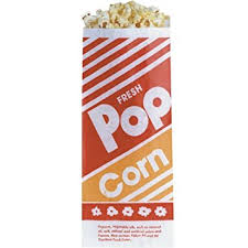"Popcorn Bag, 8"" (1oz.)- 100/Pack"