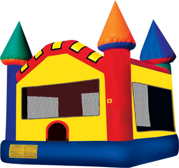 Deluxe Multi-Color Castle Jumper Rental