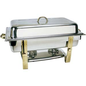 Gold Handle Silver Chafer Rental