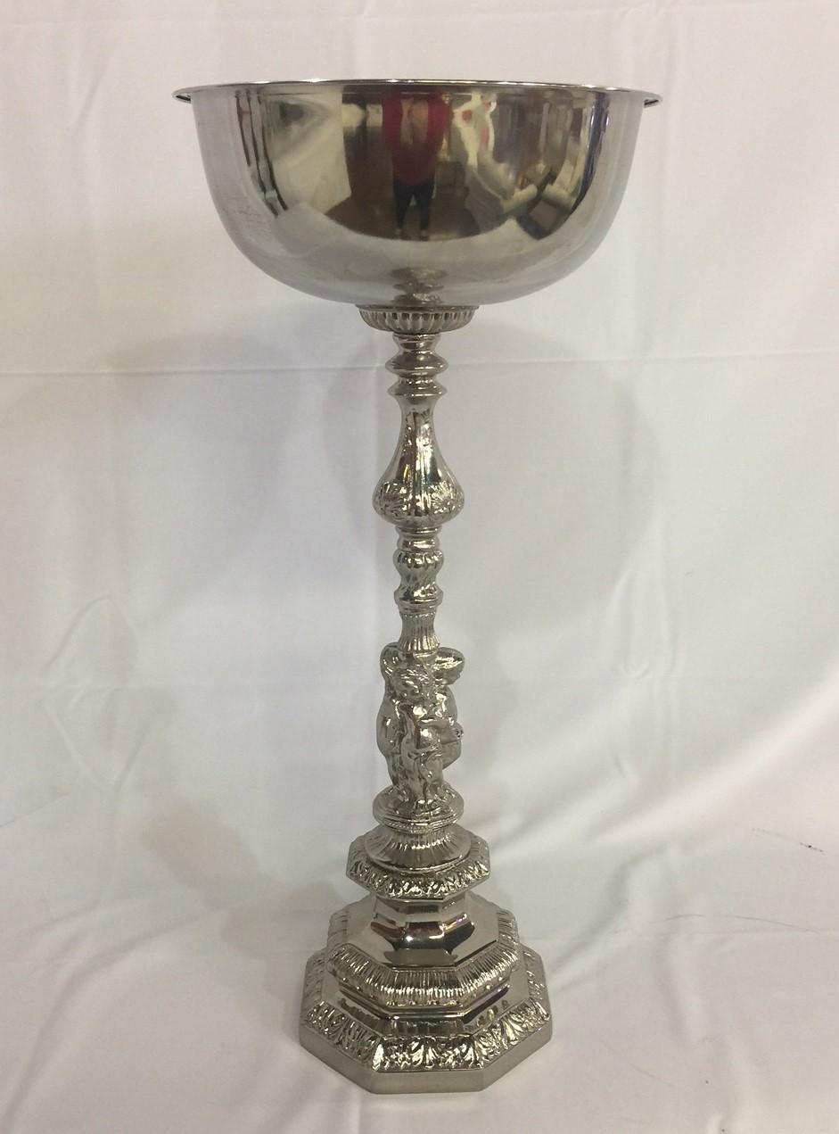 Silver Cherub Flower Bowl Rental