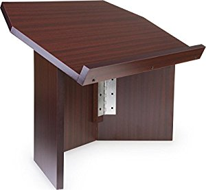 Tabletop Folding Mahogany Wood Podium