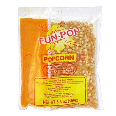 4oz. Fun Pop Corn/Oil/Salt Kit- 36/Case