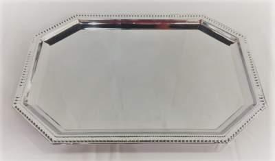 Octagon Silver Serving Platter Rental