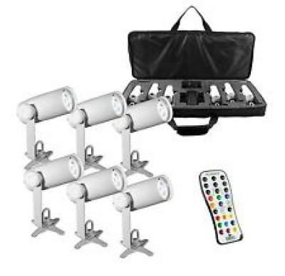LED Pinspot Lighting Rental (6 Pack)