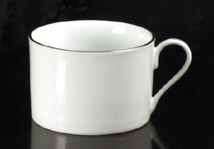 Platinum Rim Coffee Cup Rental (20/Rack)