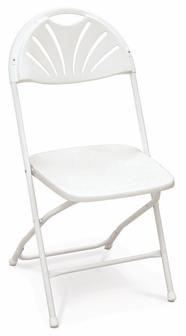 White Fan Back Chair Rental