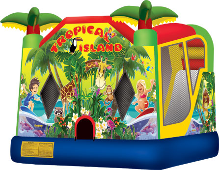 Tropical Island Combo Inflatable Rental