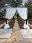 10 x 10 Section of Pipe and Sheer Draping Rental