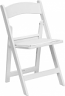 White Padded Wedding Chair Rental