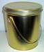 1 Gal Gold Popcorn Tin