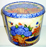 2 Gal Basket of Flowers Popcorn Tin