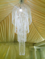LED Beaded Tiered Chandelier Rental