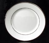 "Platinum Rim Dessert Plate 6.5"" Rental (20/Rack)"