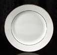 "Platinum Rim Salad Plate 8.25"" Rental (20/Rack)"