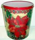 3.5 Gal Poinsettia Popcorn Tin