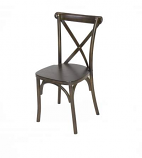 Fruitwood Cross Back Chair Rental