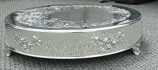 "22"" Round Silver Cake Plateau Rental"
