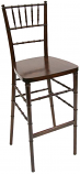 Mahogany Chiavari Bar Stool Rental