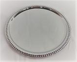 Round Silver Serving Platter Rental