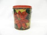 1 Gal Poinsettia Popcorn Tin