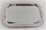 Medium Silver Rectangle Serving Platter Rental