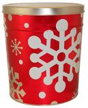6.5 Gal Festive Snowflake Popcorn Tin