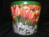 2 Gal Tulips Popcorn Tin