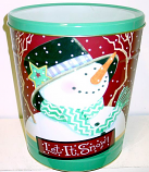 3.5 Gal Let It Snow Popcorn Tin