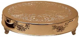 "22"" Round Gold Cake Plateau Rental"
