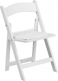 White Padded Resin Kid's Chair Rental