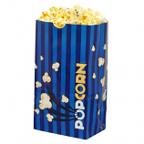 Laminated Popcorn Bag, 85oz. Blue- 1000/Case