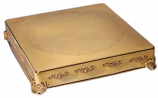"18"" Square Gold Cake Plateau Rental"