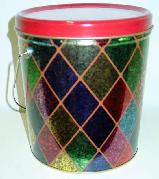 1 Gal Holiday Sparkle Popcorn Tin