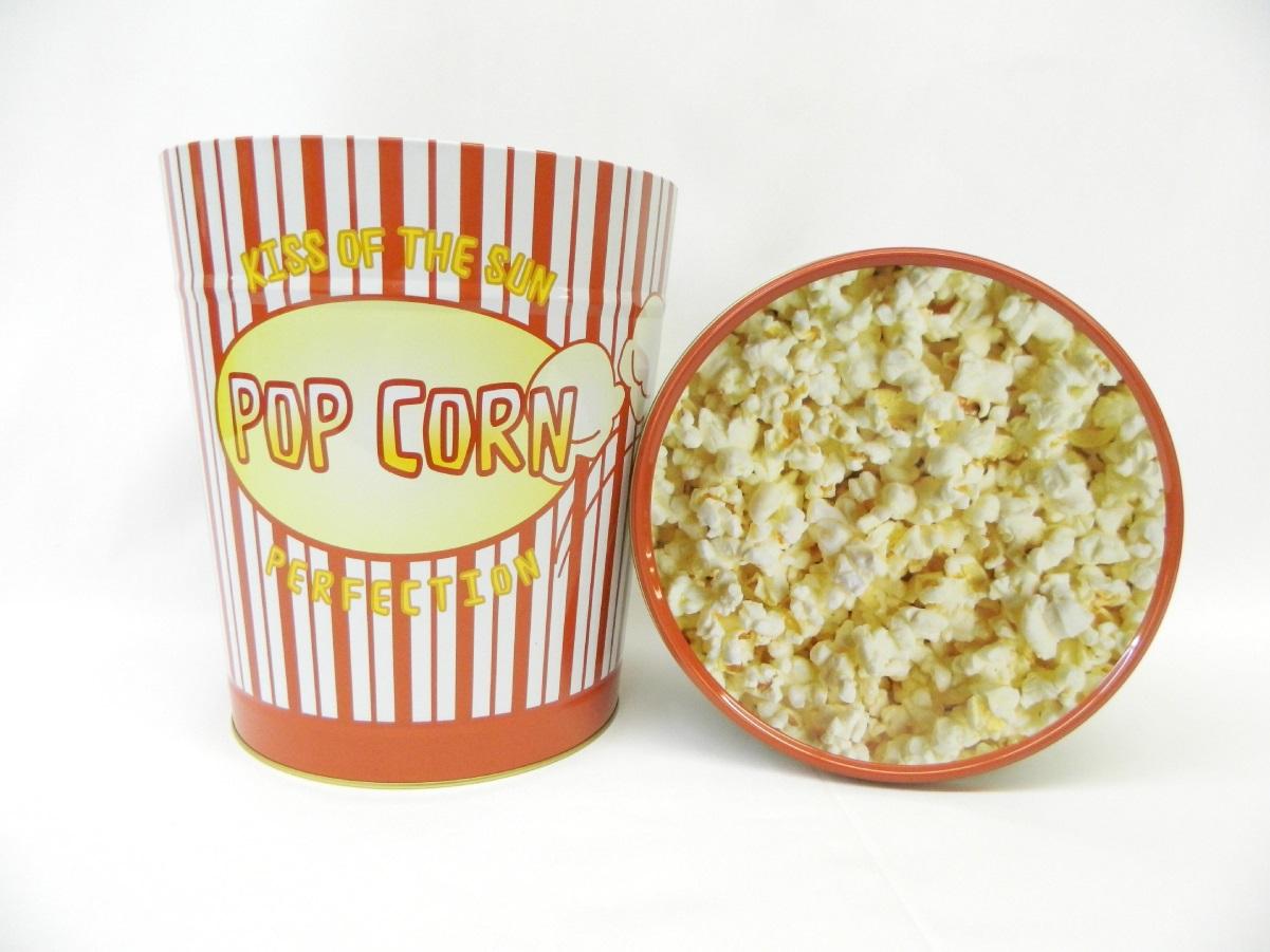 3.5 Gal Red & White Popcorn Tin