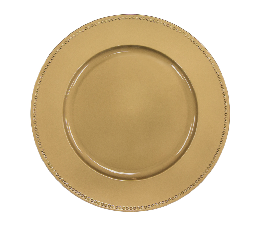 Gold Beaded Charger Rental
