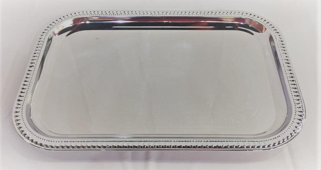 Large Silver Rectangle Serving Platter