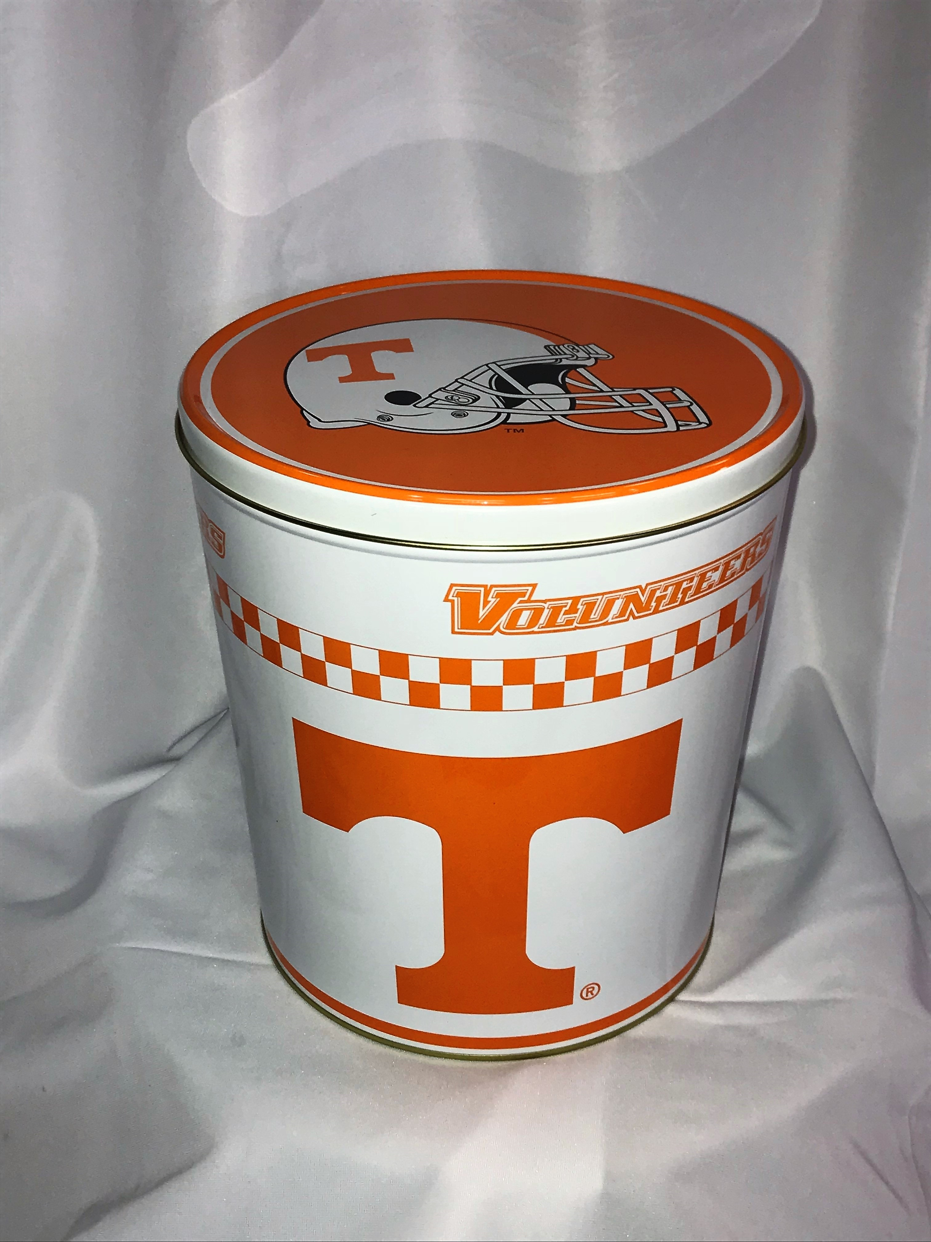 3.5 Gal Tennessee Volunteers Popcorn Tin
