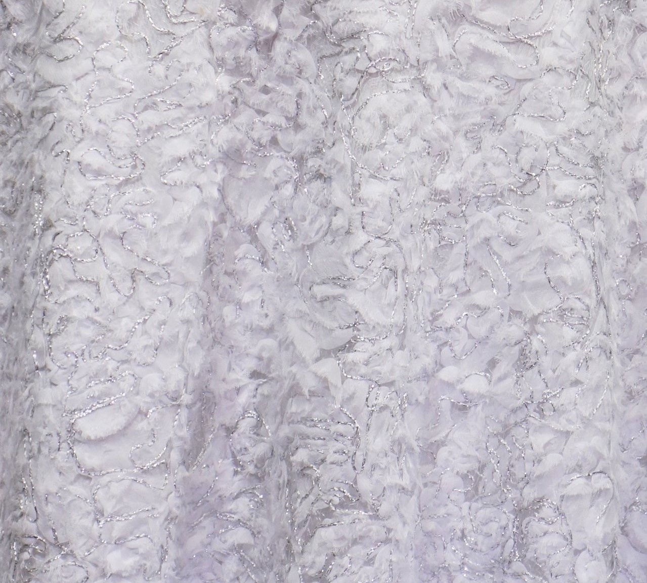 "120"" White Patina Sheer Linen Rental"