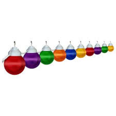 50' Strand Multi-Color Globe Lighting Rental