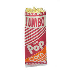 "Popcorn Bag, 12"" Jumbo- 2000/Case"