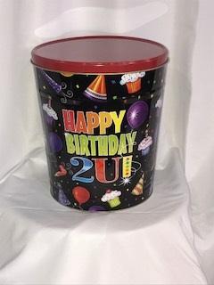 3.5 Gal Happy Birthday Popcorn Tin