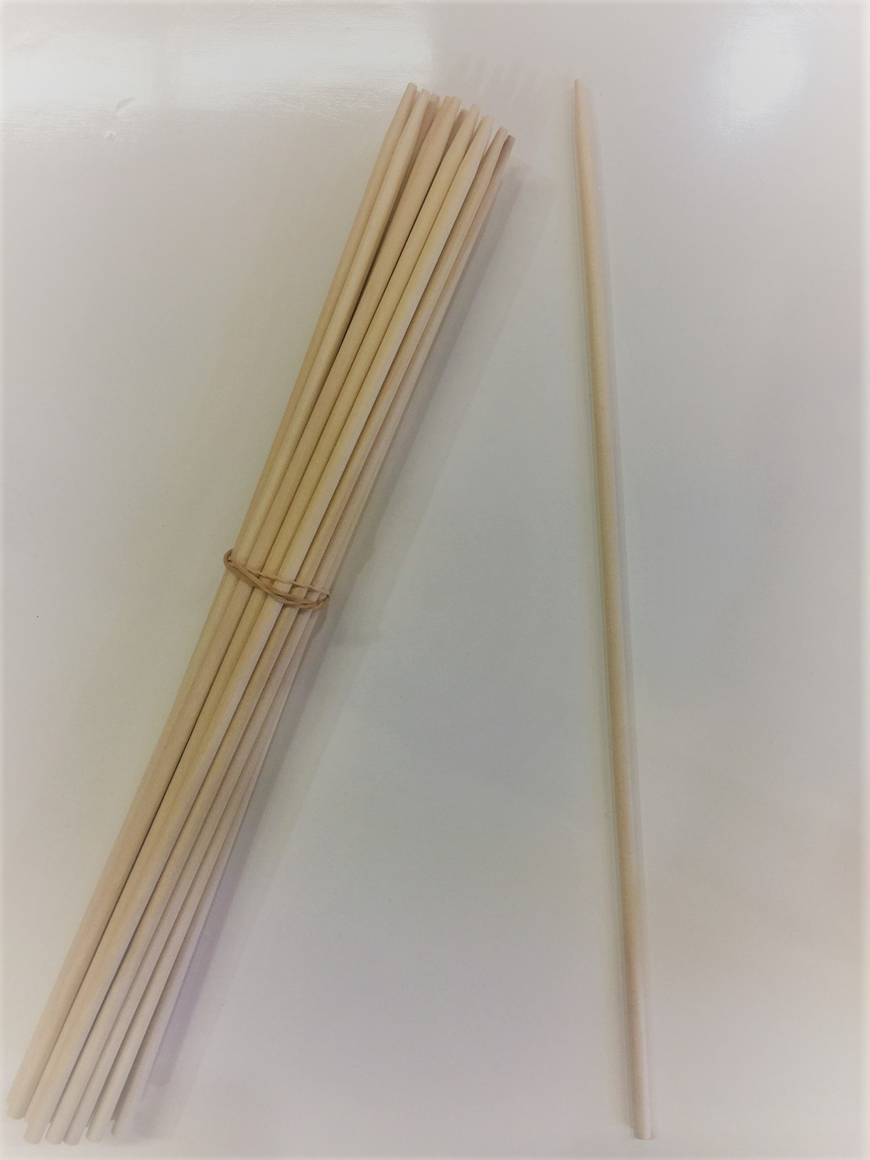 "12"" Wooden Apple Stick-1000/Case"