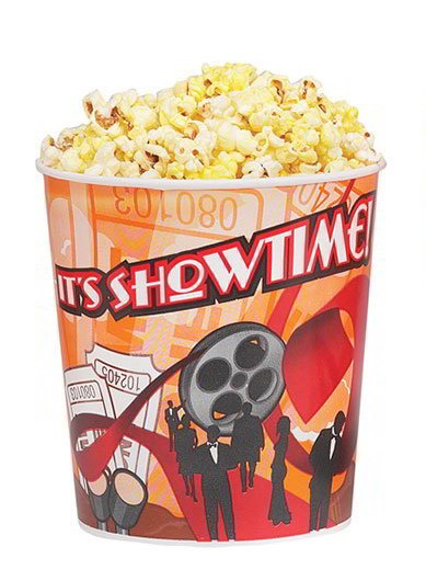 Popcorn Bucket, 130oz. Showtime- 300/Case