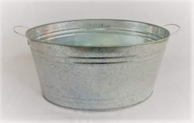 Silver Galvanized Bucket Rental