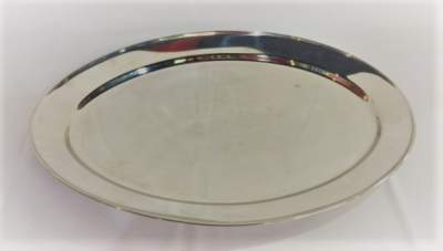 Oval Silver Serving Tray Rental