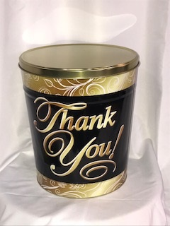 3.5 Gal Thank You Popcorn Tin