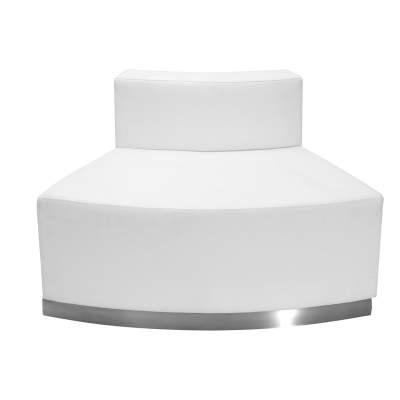 White Leather Convex Chair Rental- Modular Series