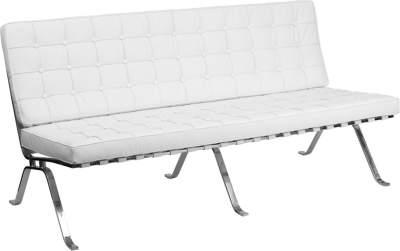 White Leather Sofa Rental